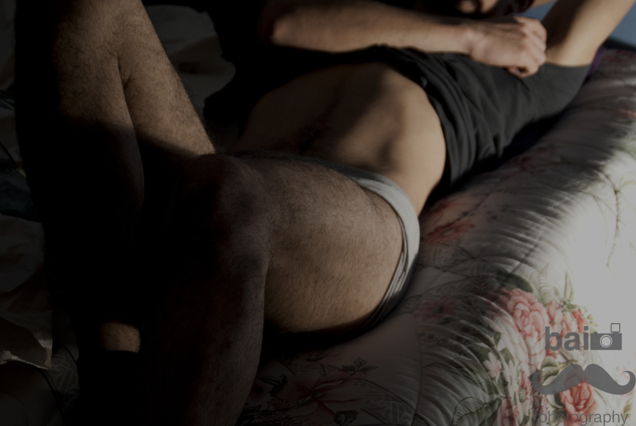 hombre, gay, underwear, hairy, cama, colcha, cuerpo,