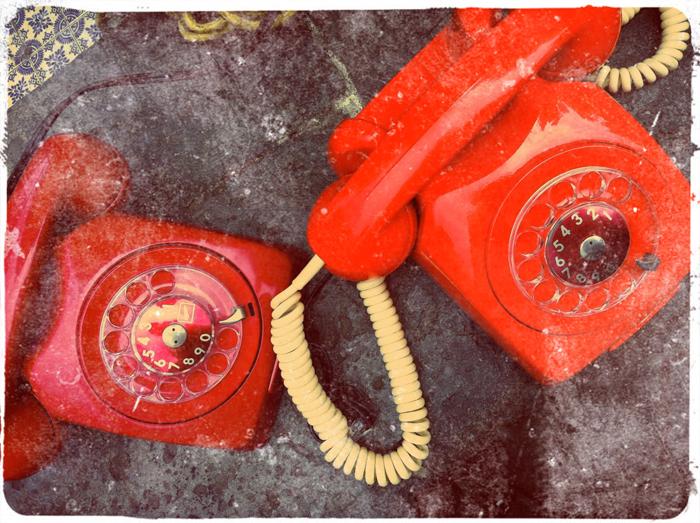 telefono retro, vintage