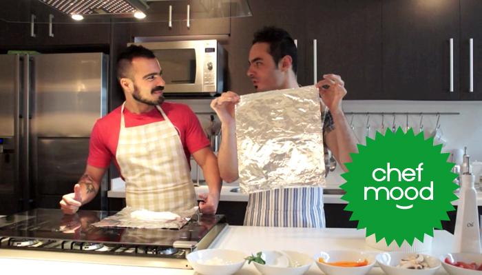 chef mood, pescado empapelado, receta, cocina, humor, vlog video salvador nunez, chef mora, manuel mora