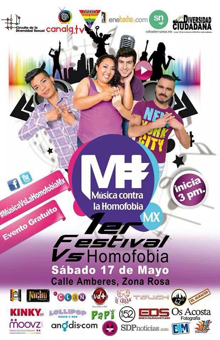 Festival, Concierto Musica contra la homofobia mx , gay, lgbt,