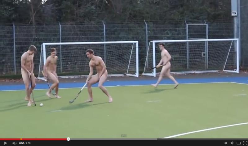 equipo de hockey de la Universidad de Nottingham desnudo