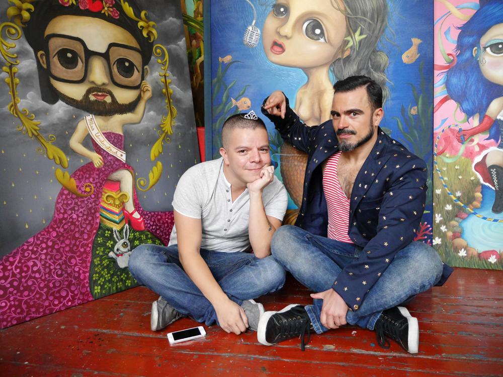 Ninos Princesa, obra de Erik Rivera, El Nino Terrible, exposicion para el FIDS