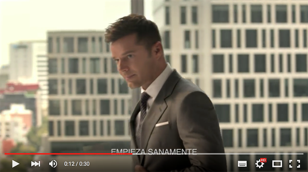 Ricky Martin anuncio Nescafe, Christian Gray
