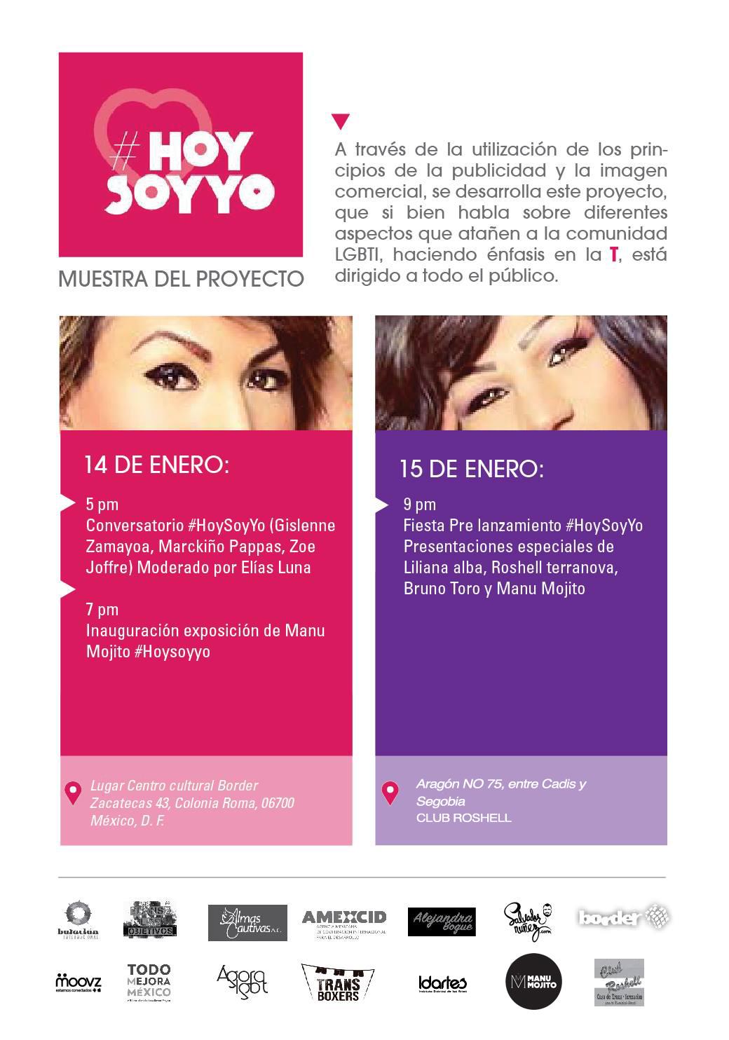 Hoy Soy Yo. Exposición Fotografica Trans, Manu Mojito