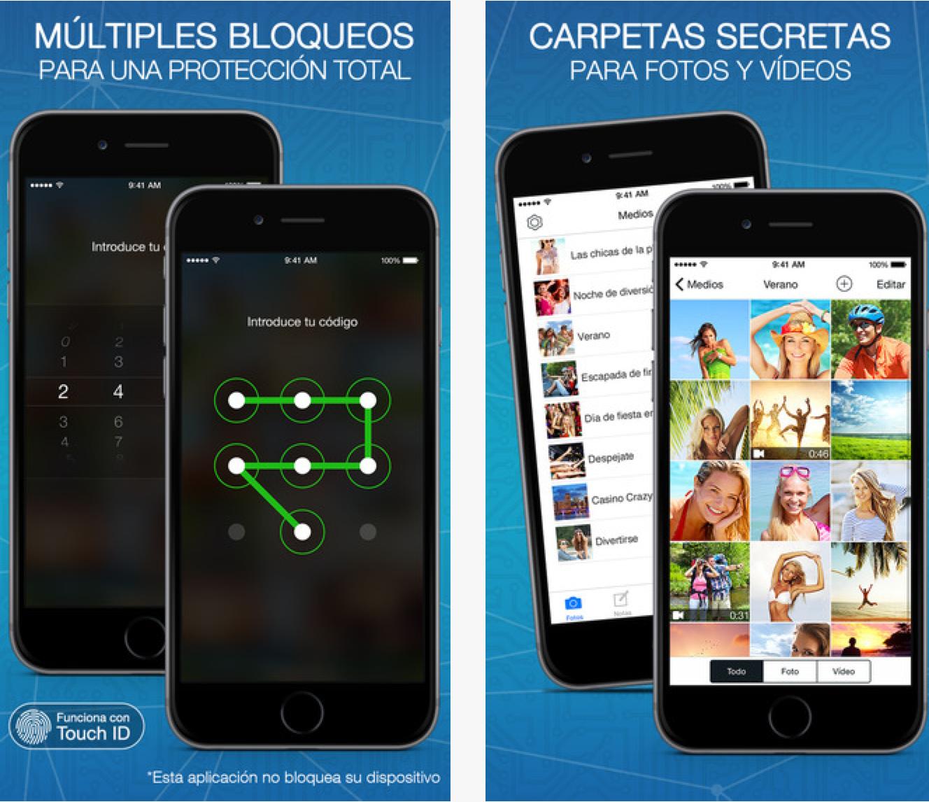 app privaciodad para smartphones. manos fuera