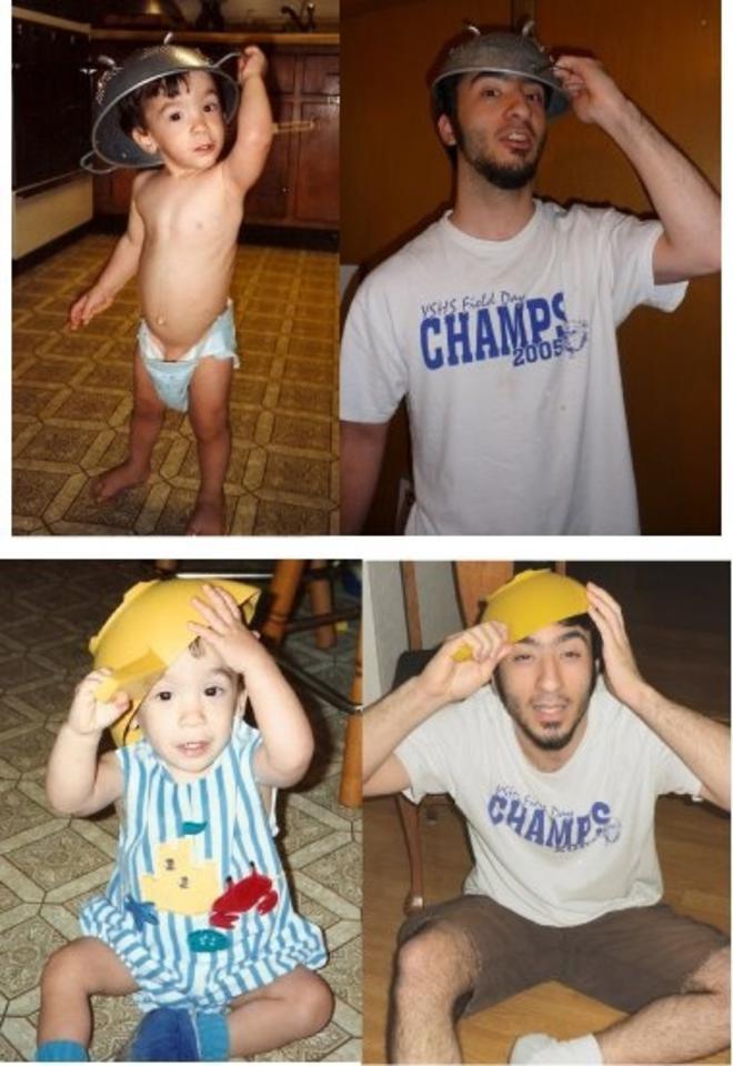 Fotos de ninos y adultos antes y despues. Replicas