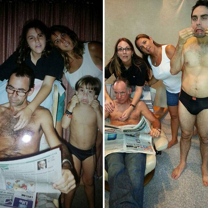 Fotos de ninos y adultos antes y despues. Replicas