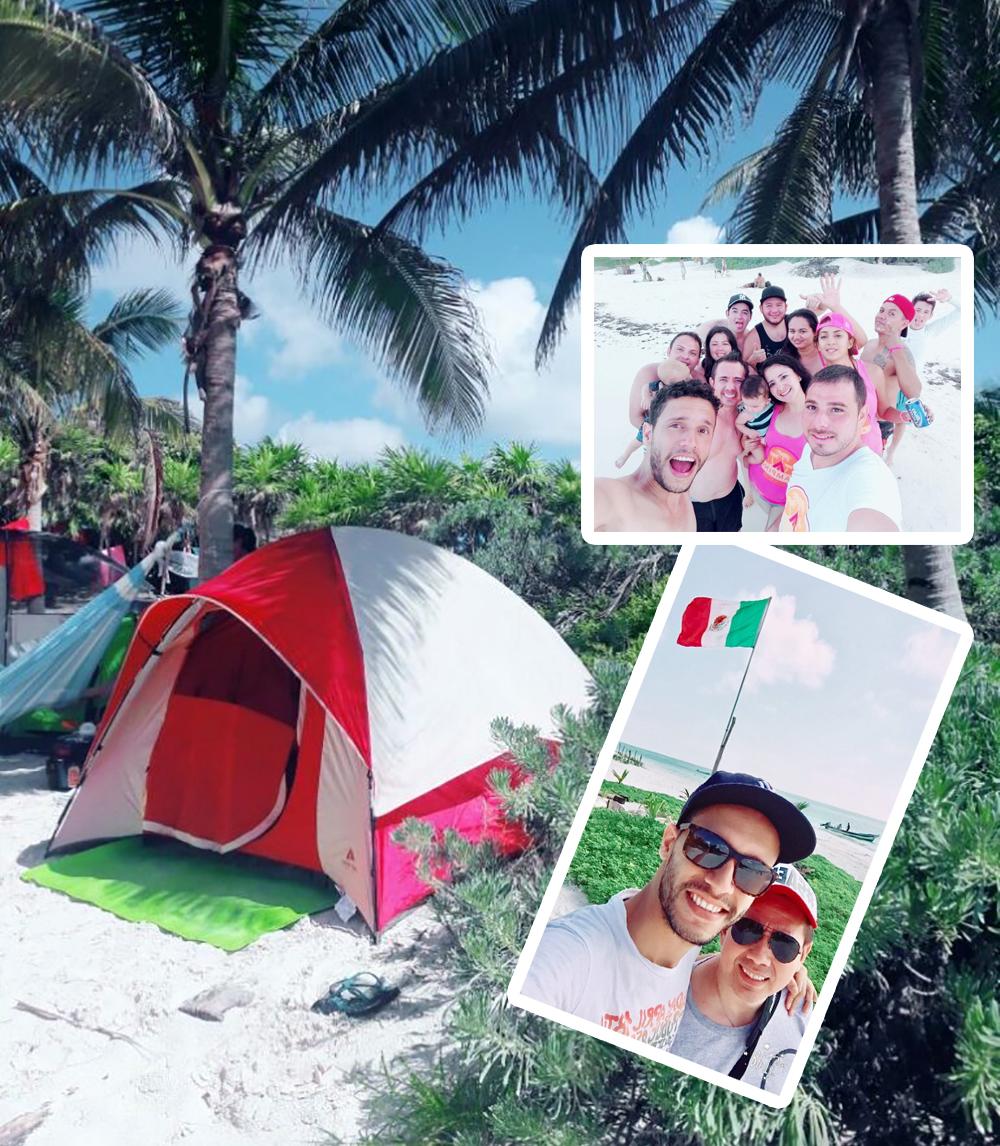 ir a campar, camping playa, tulum