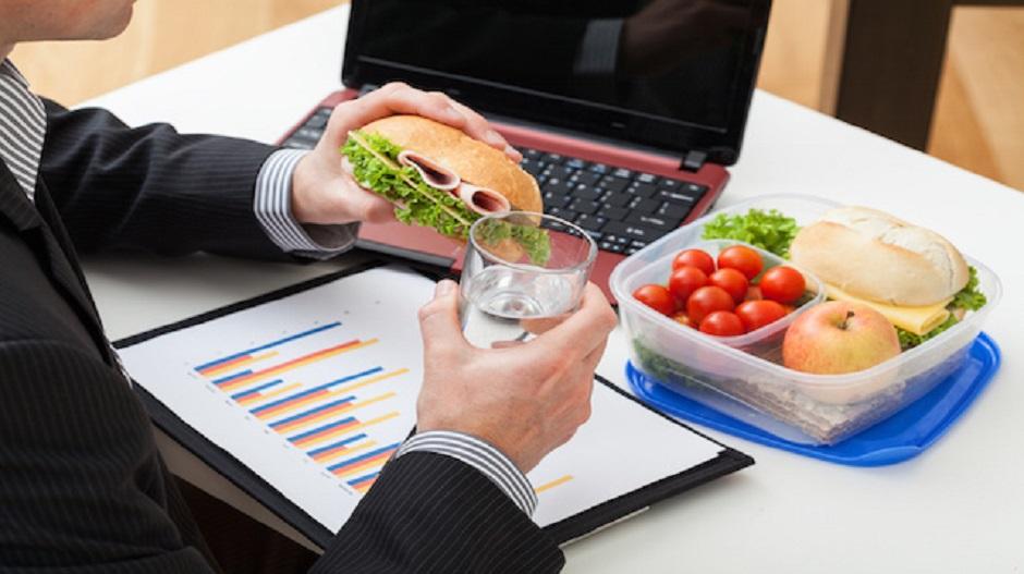 comida sana en la oficina
