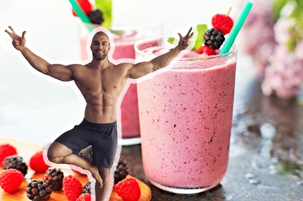 jugo antioxidante, rejuvenecedor, frutos rojos